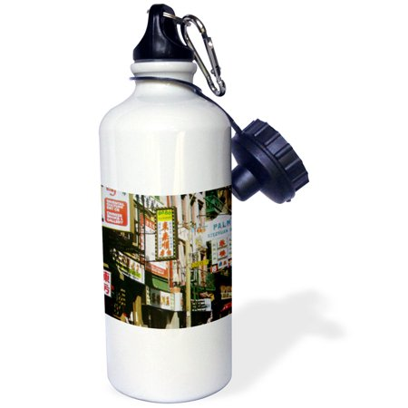 3dRose NYC Chinatown, Sports Water Bottle, 21oz (Nrc Sports)