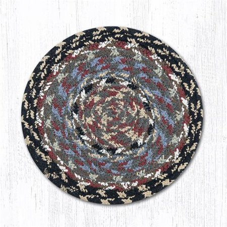 Capitol Importing 42-043 Burgundy, Blue & Gray Table Accents Round Coaster, 4 in. - image 1 of 1