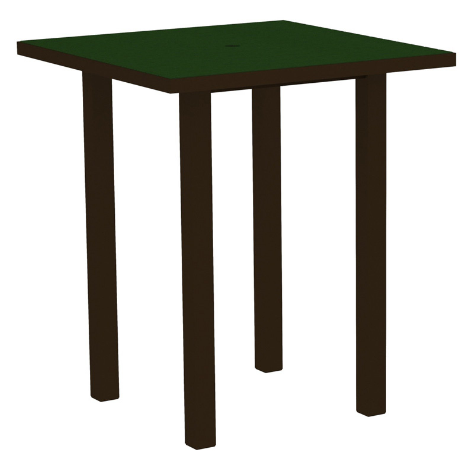 POLYWOOD® Euro 36 in. Square Bar Table with Aluminum Frame