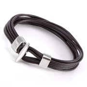 """Gemini Leather Cuff Wristband Bracelets Valentine's Day Gift For Men Women Teens Boys Girls Gm050 7"""" , Color: Brown"""