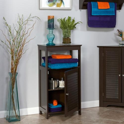 RiverRidge Home Ellsworth Single Door Floor Cabinet, Espresso