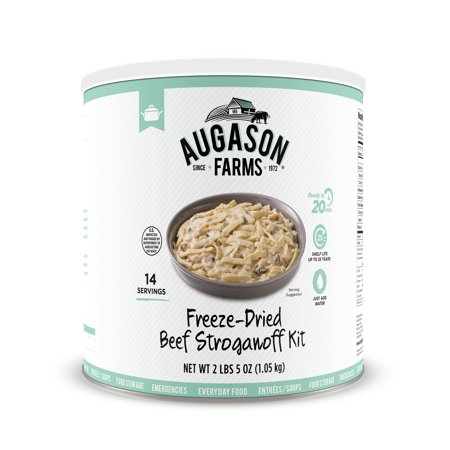 Augason Farms Beef Stroganoff with 100% Real Freeze-Dried Beef Emergency Food Storage Large
