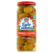 (2 Pack) Musco Family Olive Co. Early California Pimiento Stuffed Queen Olives, 7 oz Jar