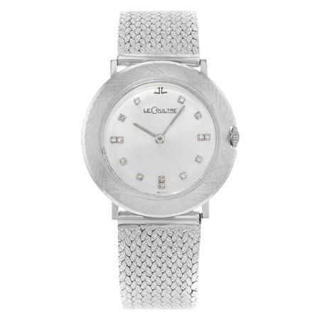 Pre-Owned Jaeger-LeCoultre Silver Dial 33mm 14K White Gold Diamonds Hand Wind Ladies (Jaeger Lecoultre Ladies)