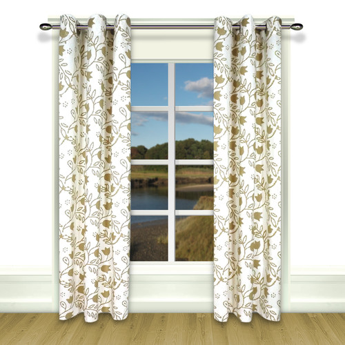 Ricardo Trading Garden Imprints Grommet Single Curtain Panel