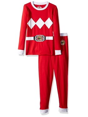 Mighty Morphin Power Ranger Red Ranger Cotton 2Pc Tight Fit Pajama(Little Boys & Big Boys)