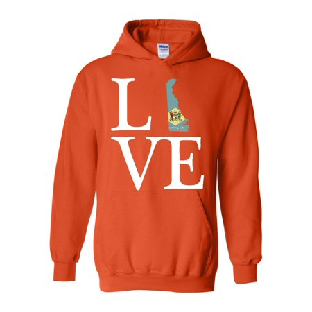 Love Delaware Unisex Hoodie Hooded Sweatshirt