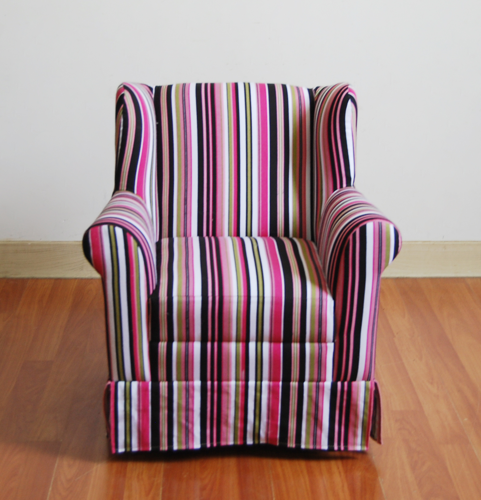 4D Concepts Wingback Arm Chair - Striped