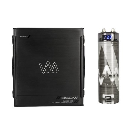 New Vm Audio Sra850 2 850W 2 1 Channel Car Amplifier Amp   2 Farad Capacitor