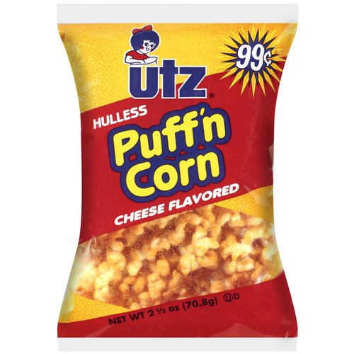 UTZ Cheese Flavored Hulless Puff'n Corn, 2.5 oz