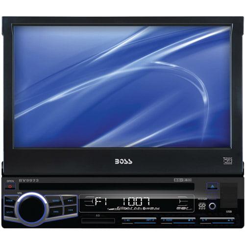 "Boss Audio BV9973 7"" Single-DIN In-Dash Flip-Down DVD Receiver"