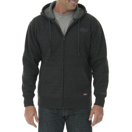 Dickies Mens Full Zip Thermal Hoodie With Warm Sherpa Lining