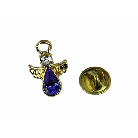 September Crystal Birthstone Guardian Angel Lapel Pin Brooch Tie (September Birthstone Angel Pin)