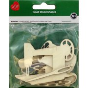 Assorted Wood Shapes-Sewing Notions 8/Pkg
