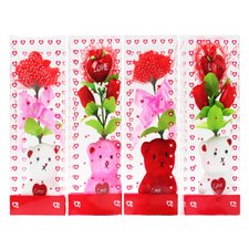 New 502888  Vi Bear Styrofoam 9 Heart  Rose 4 Asst (36-Pack) Action Cheap Wholesale Discount Bulk Toys Action (Cute Teddy Bears With Hearts And Roses)