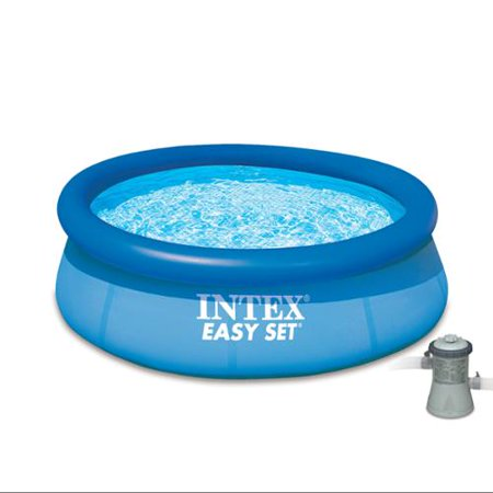 Sale Intex 8 39 X 30 Easy Set Inflatable Swimming Pool With 330 Gph Filter Pump Swimming Pool