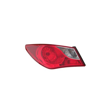 Tail Light Assembly - DEPO For/Fit 924013Q000 11-14 Hyundai Sonata - (Outer On Quarter Panel) Bulb-Type (Left Hand - Driver)