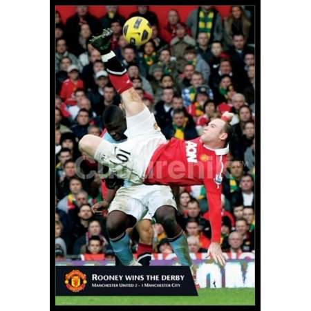 Manchester United Rooney Goal Poster Poster Print (Manchester United Best Goals)