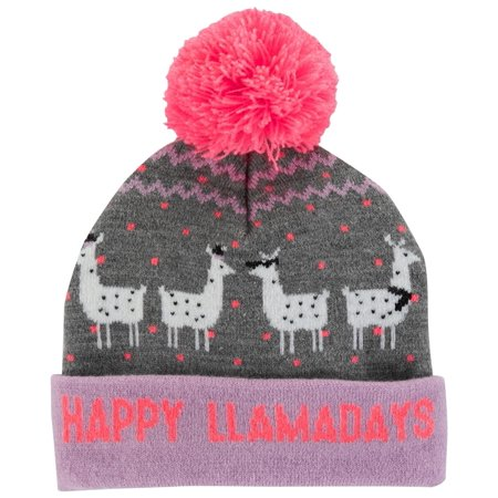 Llamas In Hats (OshKosh B'gosh Little Girls' Llama Beanie, 4-7)