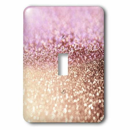3dRose Sparkling Rose Gold Pink Luxury Shine Girly Elegant Mermaid Glitter - Single Toggle Switch