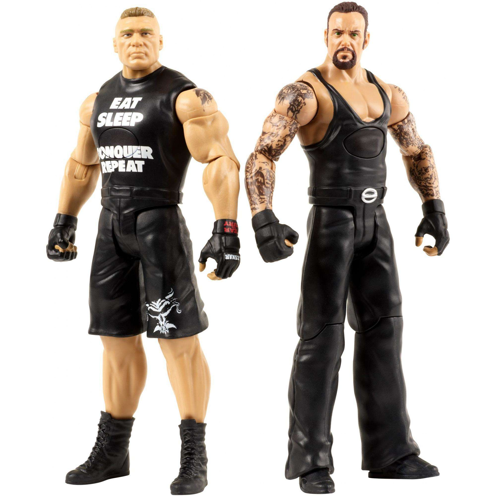 WWE Tough Talkers Undertaker & Brock Lesnar Innovation Figures 2-Pack by Mattel