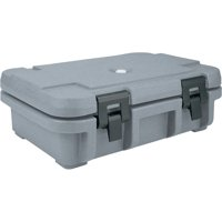 """Cambro Top Loading Insulated Food Carrier for 4"""" Deep Pans, Granite Gray, UPC140-191"""