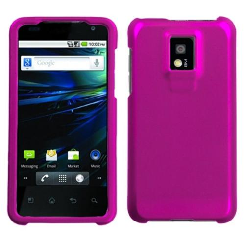 Insten Titanium Solid Hot Pink Phone Case for LG: P999 (G2X)