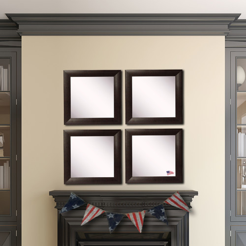 Rayne Mirrors Ava Wide Leather Wall Mirror (Set of 4)