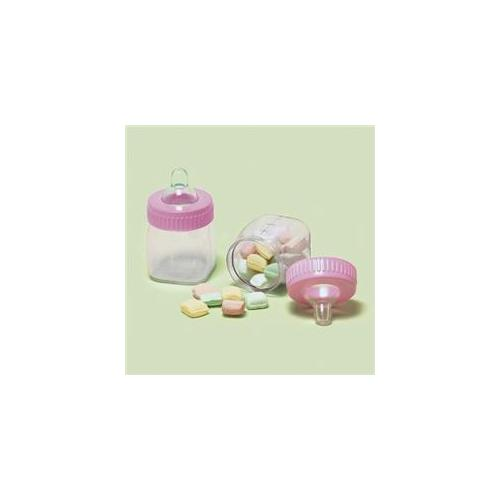 Amscan 152668 Baby Bottle Favor Containers Pink