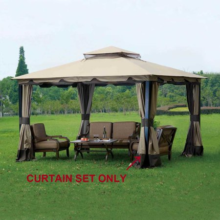 Sunjoy Replacement Curtain for L-GZ215PST-4 10X12 Monterey gazebo