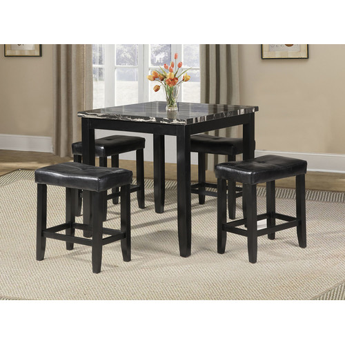 Winston Porter Rayle 5 Piece Counter Height Dining Set