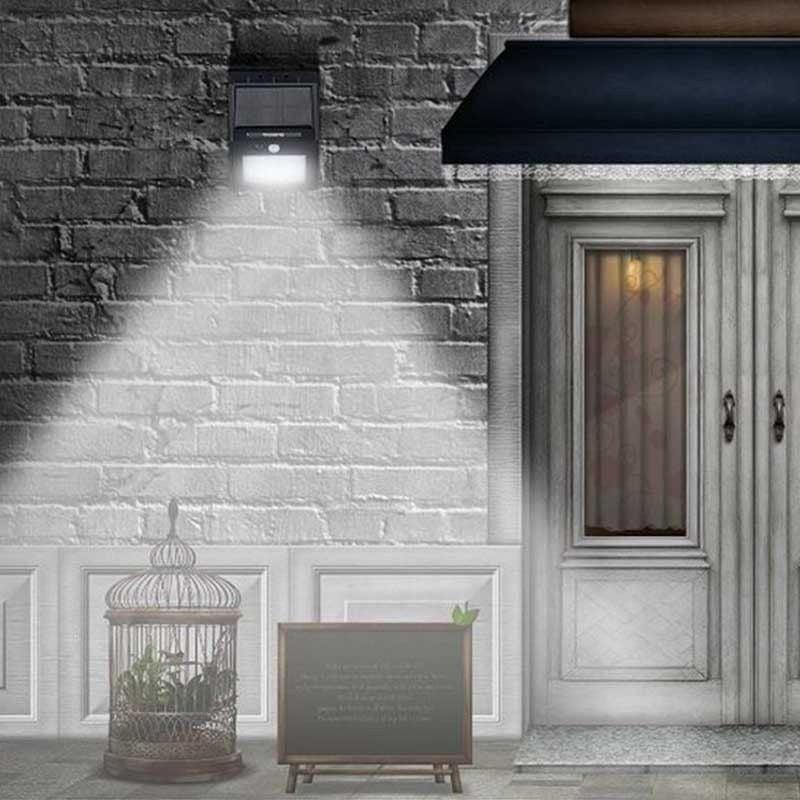 2 Pack- 20LED Solar Power PIR Motion Sensor Wall Light Outdoor Waterproof Garden