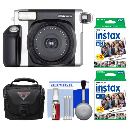 (Fujifilm Instax Wide 300 Instant Film Camera with 40 Wide Twin Prints + Case + Kit)