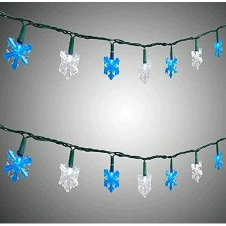 New Set of 5 Snowflake LED Christmas Decoration Lights ...  |Snowflake Blue And White Lights