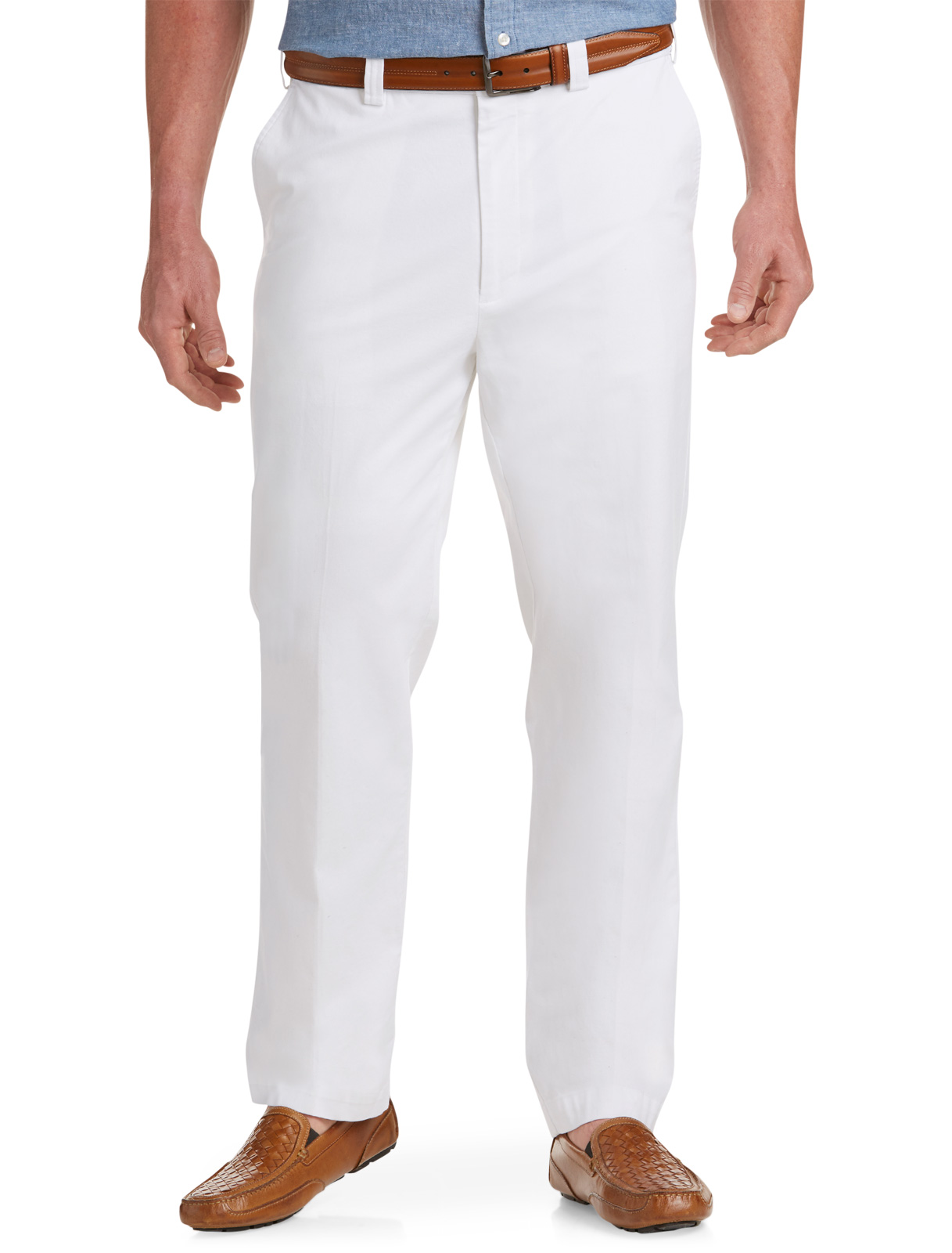 Men's Big & Tall Oak Hill Straight-Fit Waist-Relaxer Stretch Twill Pants