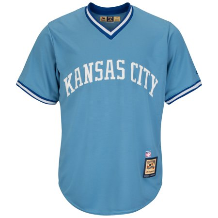 George Brett Kansas City Royals Cooperstown Cool Base Replica Blue Jersey by