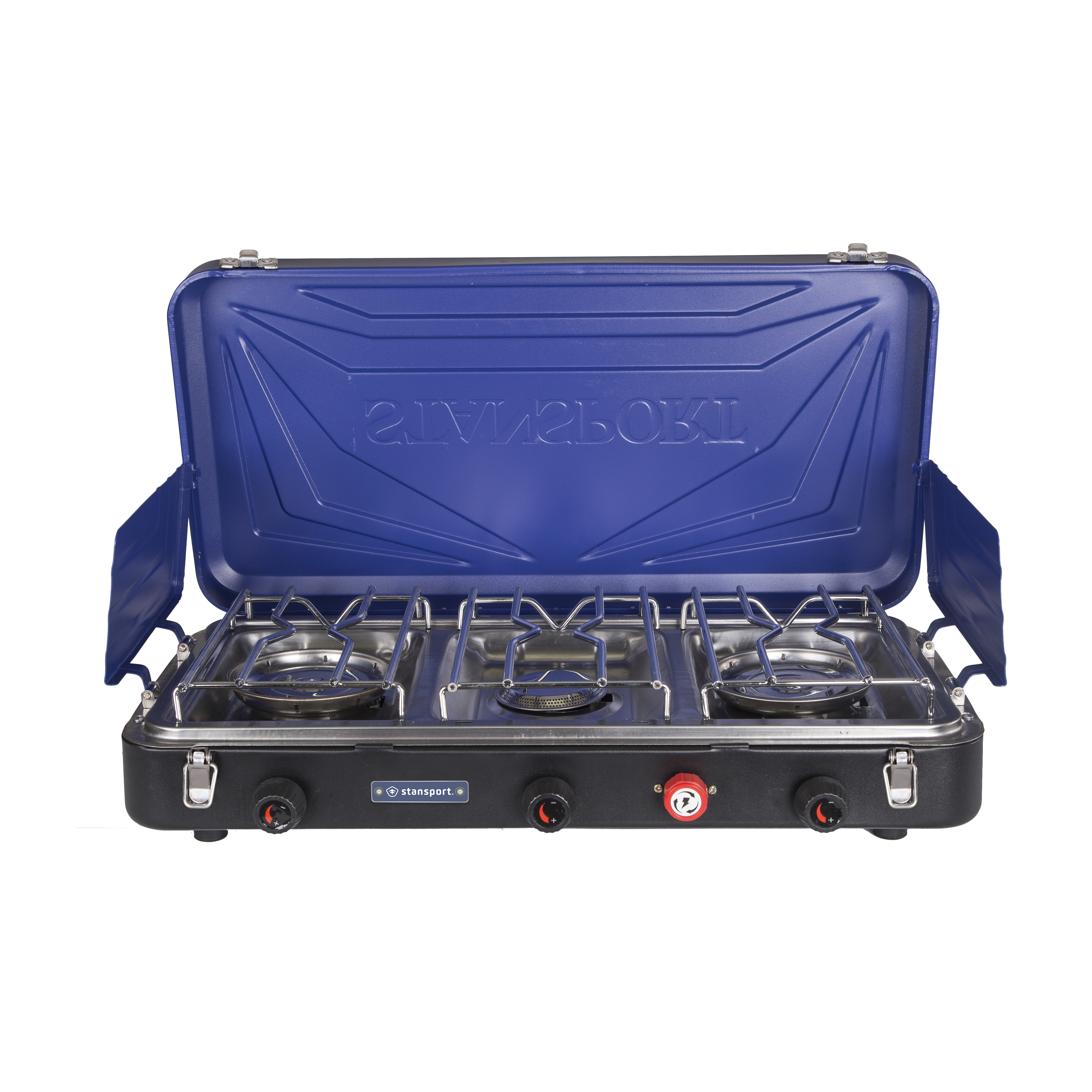 Stansport Outfitter Series Propane Stove 2-25 K & 1-10 K Burners - Blue