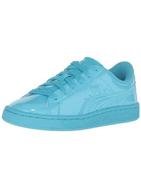 on sale 04a79 36544 Product Image PUMA Kids  Basket Classic Patent Inf Sneaker, Blue Atoll Blue  Atoll