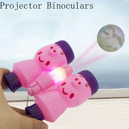 Smart Novelty Projector Binoculars Pink Educational Device Bright Shining for Kids Best