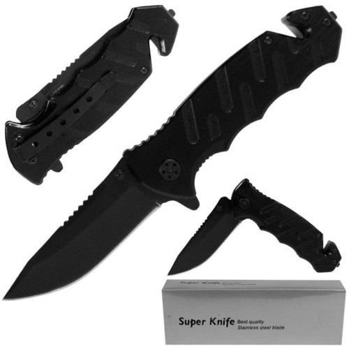 Whetstone Tough Rescue Spring-Assist Folding Knife, Black
