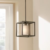 "Possini Euro Design Conroe Oil-Rubbed Bronze Metal Cube 9"" Wide Mini Pendant"