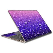 "Skins Decals For Hp Spectre X360 13T 13.3"" Laptop Vinyl Wrap / Waterdrops On Purple"