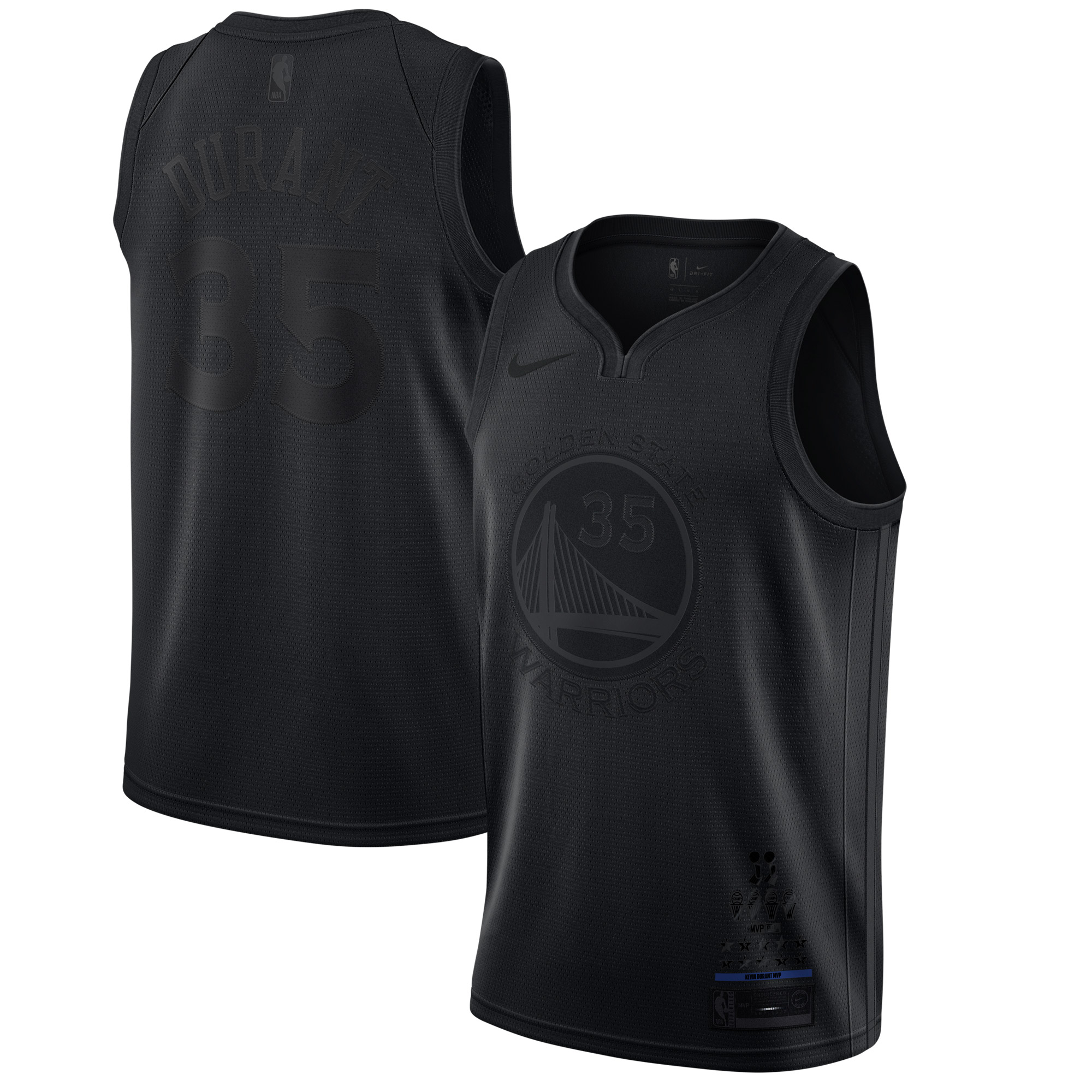 Kevin Durant Golden State Warriors Nike MVP Swingman Jersey - Black