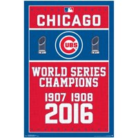 "Chicago Cubs World Series Champions 22"" x 34"" Baseball Poster"