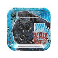 "7"" Black Panther Paper Party Plate, 8ct"
