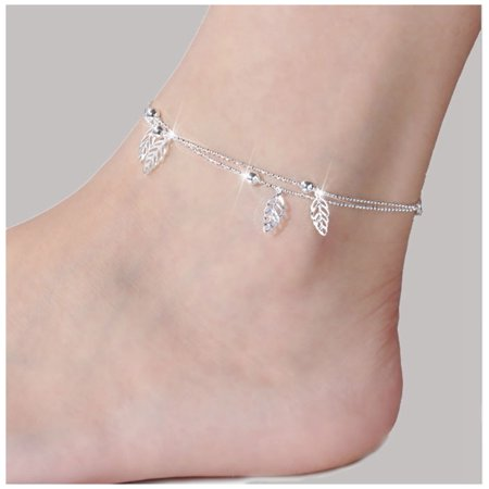 Sexy Women Bead Silver Ankle Chain Anklet Bracelet Foot Jewelry Sandal Beach