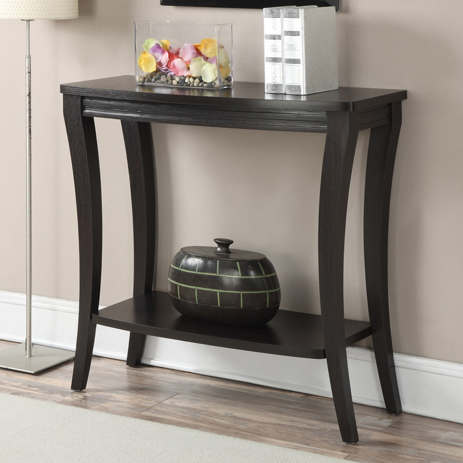 Convenience Concepts Newport Console Table with Shelf, Espresso by Overstock