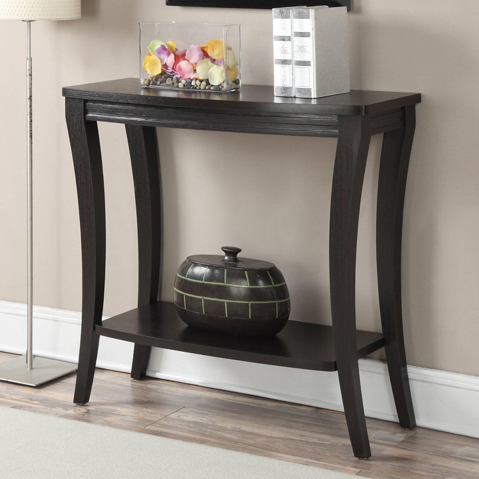 Convenience Concepts Newport Console Table with Shelf, Espresso