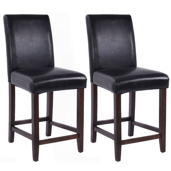 Costway Copper Set Of 4 Metal Wood Counter Stool Kitchen: Costway Set Of 2 Kitchen Bar Stools Padded Dining Height