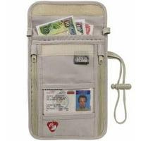 Lewis N. Clark RFID Neck Stash Anti-Theft Hidden Wallet ( Taupe)